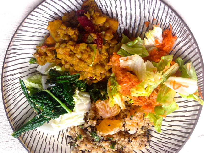 macrobiotic training day - macrobiotic meal