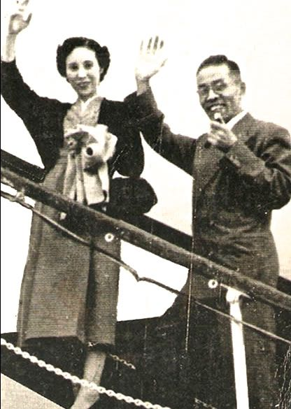 macrobiotic history - George and Lima Ohsawa waving